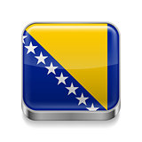 Metal  icon of Bosnia and Herzegovina