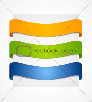 Bright vector ribbons