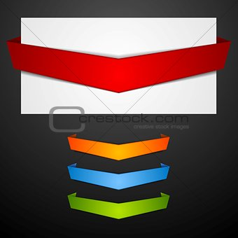 Abstract paper banners