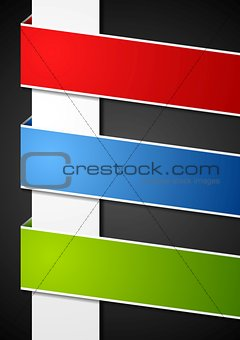 Abstract paper bright banners