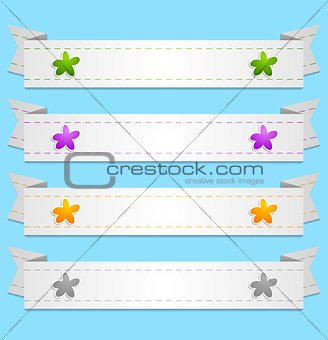 Abstract vector ribbons