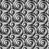 Design seamless monochrome swirl pattern