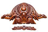 Antique wood ornament