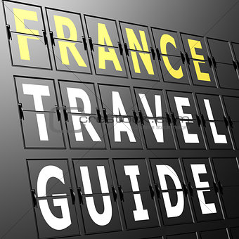 Airport display France travel guide
