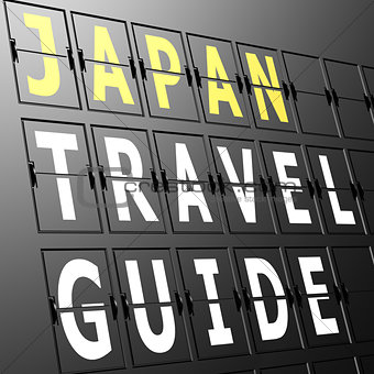 Airport display Japan travel guide