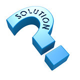 Blue solution isolated question mark