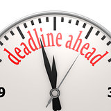 Deadline ahead clock
