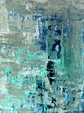 Turquoise and Beige Abstract Art Painting
