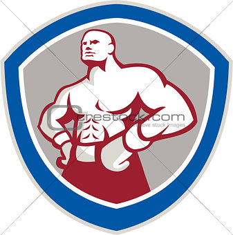 Boxer With Hands on Hips Shield