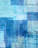 Blue and Beige Abstract Art Painting