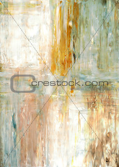 Green and Beige Abstract Art Painting