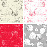 Strawberry seamless patterns