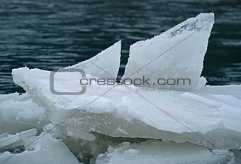 Forms of ice near the coast