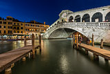 Rialto Bridge and Grand Canal in the Evening, Venice, Italy