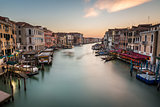 View on Grand Canal from Rialto Bridge, Venice, Italy
