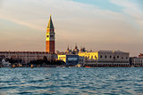 View of Doge's Palace, Campanella and San Marco Cathedral from t