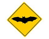 Bat warning sign