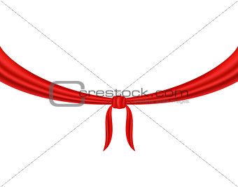 Knot tied in red design