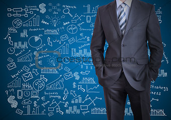 Man in suit and business plan