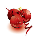 Beautiful Christmas ball vector
