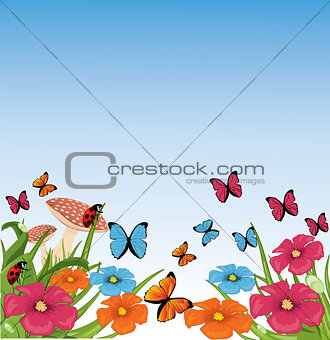 beautiful vector summer scene