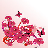 Beauty pink flower design