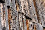 cracked aged wooden fence