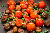 Roasted mushrooms with cherry tomatoes