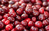 Seamless texture of cherries