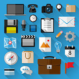 Flat icons bundle. Business concept