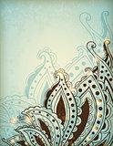 Decorative hand drawn background
