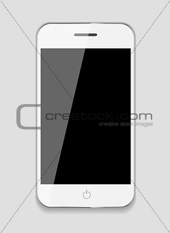 Abstract Design Mobile Phone. Vector Illustration