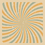 Abstract Grunge Sunburst  Background Vector Illustration