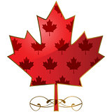 Fancy maple leaf