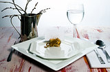 Casual rustic place setting