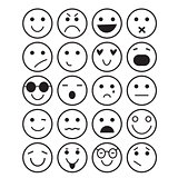 Smilies icons: different emotions