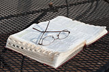 Bible on Iron Table