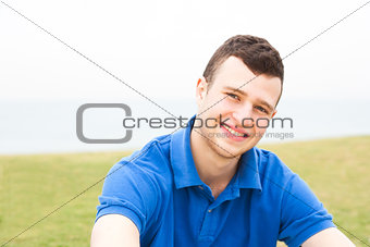 Attractive man, enjoying beach holiday