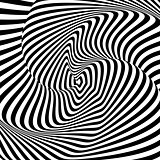 Design monochrome whirl motion illusion background