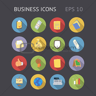 Flat Icons for Business
