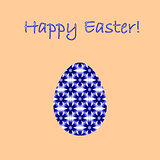 Colorful Easter egg decorated with cornflowers pattern