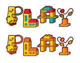 Word Play. Letters Made Of Toys