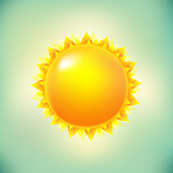 Sun And Vintage Background
