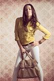 girl with fashion bag