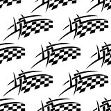 Stylized seamless pattern of a checkered flag