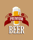 Lager beer banner