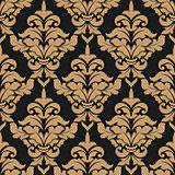 Damask style seamless pattern