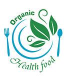 Organic health food icon