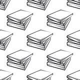 Seamless books pattern