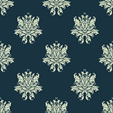 Ornate floral damask style seamless pattern
